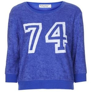 Women's Blue 74 Towelling Jumper By Project Social